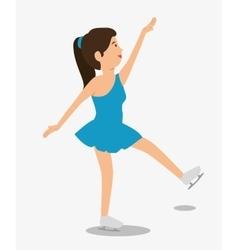 Woman athlete avatar character vector
