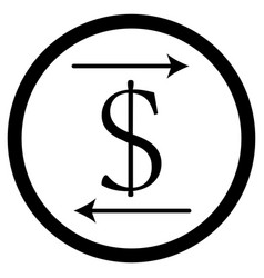 transfer money icon vector image