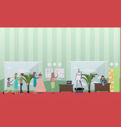 fashion atelier concept in vector image