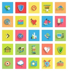 Flat icon set  universal icons vector