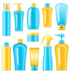 Sunscreen cosmetics vector