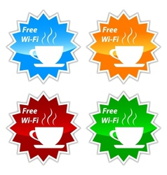 Free wi-fi labels vector