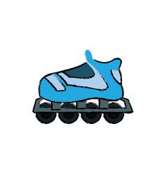 Roller skate hobby sport wheel toy vector