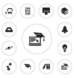 Set of 12 editable teach icons includes symbols vector