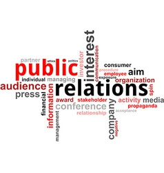 Word cloud public relations vector