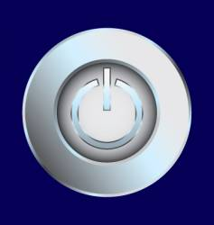 Power switch chrome illustration vector