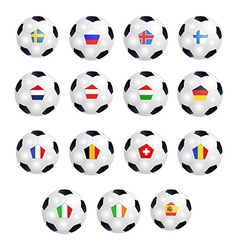 Set of soccer balls vector
