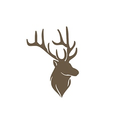 Deer horn animal hunting abstract logo vector