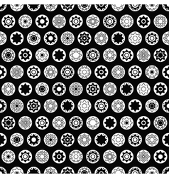 Black star seamless pattern vector
