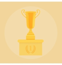Trophy champion Cup Flat award Icon vector image