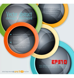 Colorful abstract 3d balls design elements vector