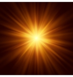 Abstract image of lighting flare vector image vector image