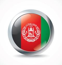 Afghanistan flag button vector