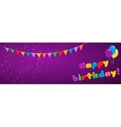 Background happy birthday vector image vector image