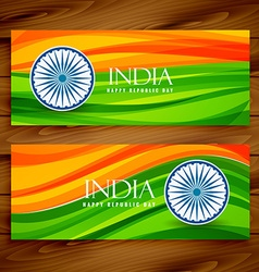 Banners of indian flags vector