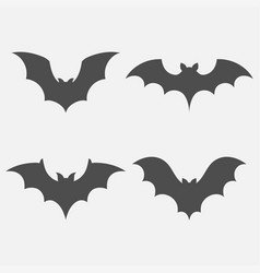 bats set isolated vector image