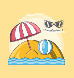 beach vacation summer holiday vector image vector image