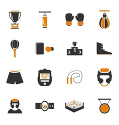 Boxing icon set vector