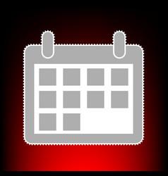 calendar sign postage stamp or old vector image