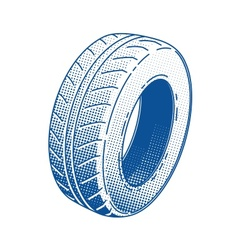 Car tire rubber wheel vector image vector image