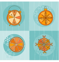 christmas time card vector image vector image