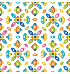 Colorful tileable pattern background vector image vector image