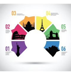 Colourful landmark model vector