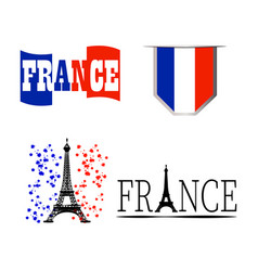 commemorative france symbol vector image