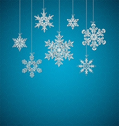 Decorative Snowflakes Background vector image vector image
