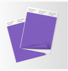 Fabric samples textile swatch template for vector