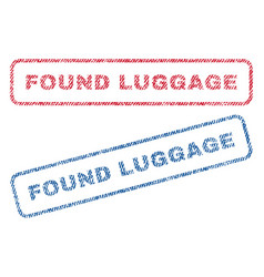 Found luggage textile stamps vector