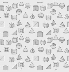 Geometric shapes pattern vector