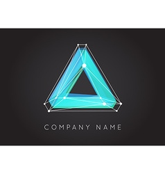 Geometric shapes unusual and abstract logo vector