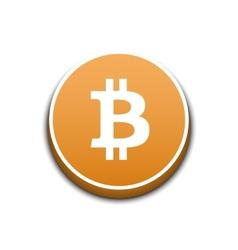 Golden bitcoin vector