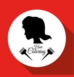 Hair salon design hairdressing icon vector