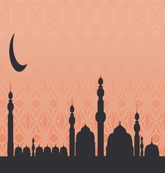 Islamic Mosque Background vector image