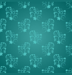 Jade with light blue ornamental swirl centered vector