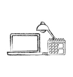 laptop computer icon vector image