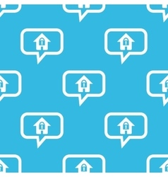 Locked house message pattern vector