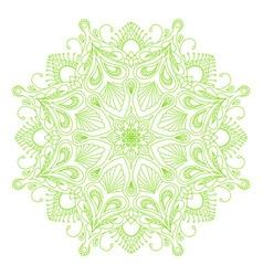 Round decorative floral mandala element vector image vector image