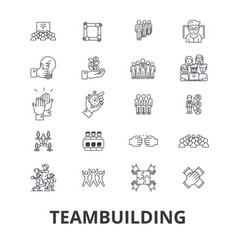 Teambuilding community teamwork leadership vector