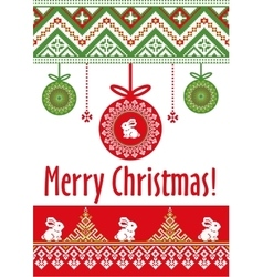 Template card merry christmas in vector
