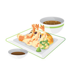 tempura vector image vector image