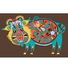 Ukrainian traditional tribal art in karakoko style vector image vector image