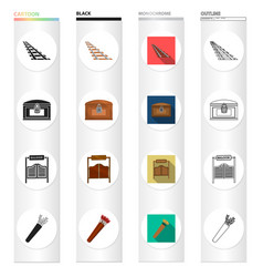 west history education and other web icon in vector image