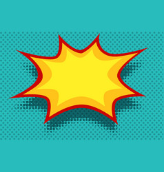 yellow comic book background explosion bubble vector image