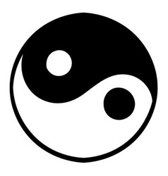 ying yang icon icon cartoon vector image