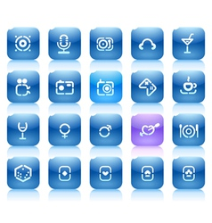 Stencil blue buttons for entertainment vector