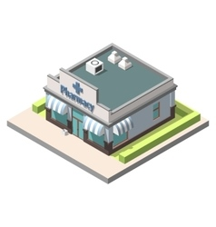 Isometric pharmacy isolated on white vector