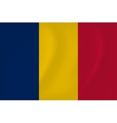Chad waving flag vector image